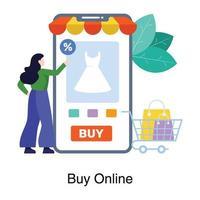 mobil shopping app koncept