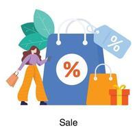 försäljning och köp koncept