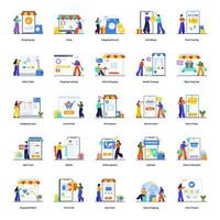 E-Commerce- und Shopping-Konzeptset vektor