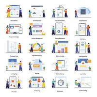 användargränssnitt och webbdesign konceptuppsättning vektor