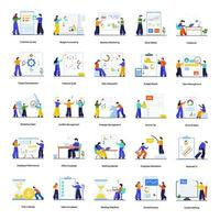 Teambuilding und Bürokonzept vektor