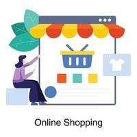 Online-Shopping-Website-Konzept vektor