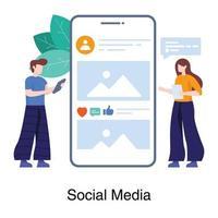 Social-Media-Anwendungskonzept vektor