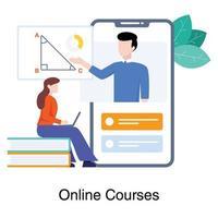 Bildungs-App für Online-Lernkonzept