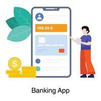 koncept för mobilbankapplikation