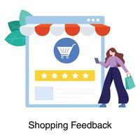 Einkaufsfeedbacks nach Kunden- oder Verbraucherkonzept vektor