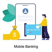 mobilbank app koncept vektor