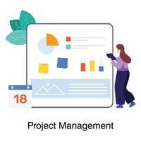 Projektmanagement durch eine Mitarbeiterin
