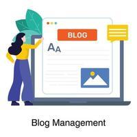 blogghantering för affärsidé vektor