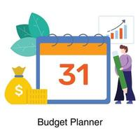 affärsbudget plan koncept vektor