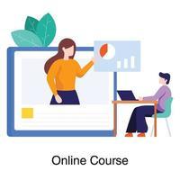 online affärskurs koncept vektor