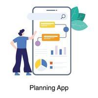 projektplanering app koncept vektor