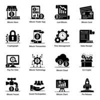 Bitcoin und Business-Set