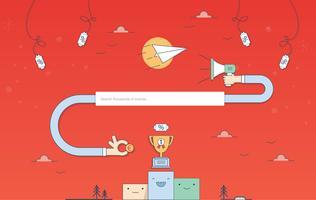 Vector Website Landningssida Design
