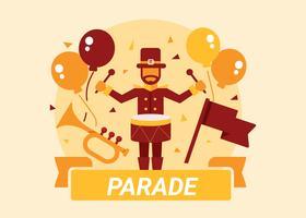 Parade-Konzept-Illustration vektor