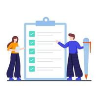 Konzept der Checkliste für den Abschluss der Aufgabe