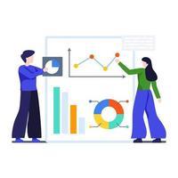 affärsanalys och rapporteringskoncept