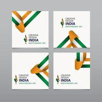glückliche Indien Unabhängigkeitstag Feier kreative Design Vektor Vorlage Design Illustration