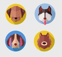 Abstrakter Polygon-Hundekopf-Vektor-flacher Illustrations-Avatara