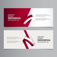 glad indonesien självständighetsdagen firande kreativa marknaden vektor mall design illustration