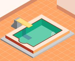 Weinlese-Swimmingpool-Illustration vektor