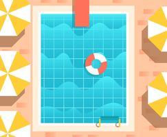 Weinlese-Swimmingpool-Illustration