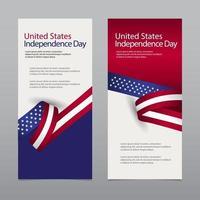 glückliche Vereinigungsstaatenunabhängigkeitstag-Feiervektorschablonen-Entwurfsillustration vektor