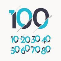 100 Jahre Jubiläumsfeier Vektor Logo Symbol Vorlage Design Illustration
