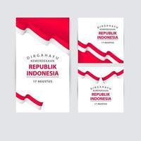glad indonesien självständighetsdagen firande vektor mall design logotyp illustration