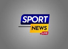 sport nyheter live etikett vektor mall design illustration
