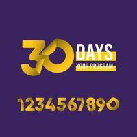 30 Tage Ihre Programmvektorschablonenentwurfsillustration