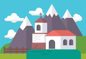 gammal kyrka illustration
