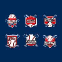 All-Star- Baseball Emblem-Vektor vektor