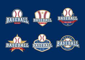 Baseball-All-Star-Abzeichen vektor