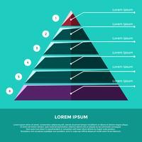 Flat Pyramid Diagram För Business Vektor