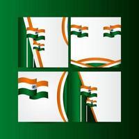 glückliche Indien Unabhängigkeitstag Feier Vektor Vorlage Design Illustration