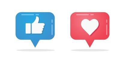 samling av sociala meddelanden i media vektor