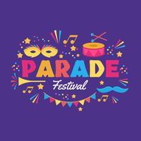Parade-Festival-Vektor-Illustration vektor