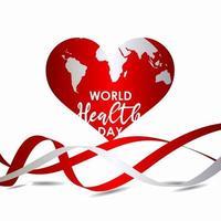 världshälsodag firande vektor mall design illustration