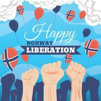 Norwegischer Tag der Befreiungstag vektor