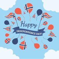Norwegischer Tag der Befreiung ClipArt vektor