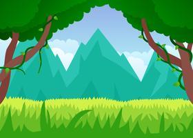 Fantastische tropische Landschaft Spieler Vektoren