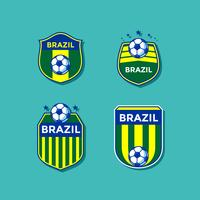 Brasilien Soccer Patches Vector