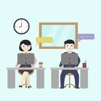 Kundendienst-Leute-Vektor