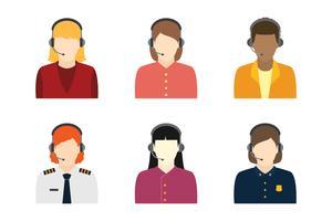 Weiblicher Kundendienst-Charakter