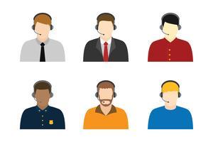 Männlicher Kundendienst-Charakter