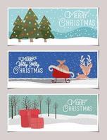 god julkortuppsättning