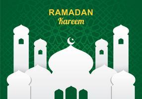 Moschee-Papier-Kunst-Hintergrund vektor