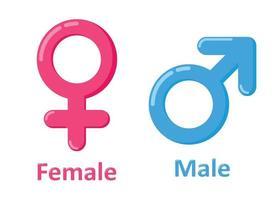 Gender Symbol Symbol Cartoon Stil Sammlung vektor