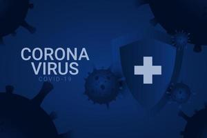 corona virus covid-19 vektor mall design illustration